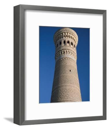 Kalyan Minaret Which Allegedly Awed Genghis Khan-Amar Grover-Framed Photographic Print