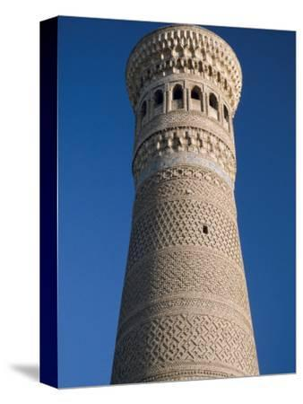 Kalyan Minaret Which Allegedly Awed Genghis Khan-Amar Grover-Stretched Canvas Print
