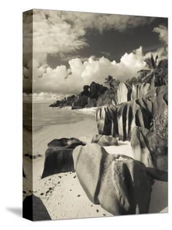 Seychelles, La Digue Island, L'Union Estate Plantation, Anse Source D'Argent Beach-Walter Bibikow-Stretched Canvas Print