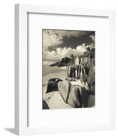 Seychelles, La Digue Island, L'Union Estate Plantation, Anse Source D'Argent Beach-Walter Bibikow-Framed Photographic Print