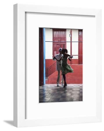 Cuba, Santiago De Cuba Province, Santiago De Cuba, Historical Center, Calle Heredia, Artex Bar-Jane Sweeney-Framed Photographic Print