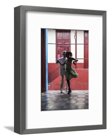 Cuba, Santiago De Cuba Province, Santiago De Cuba, Historical Center, Calle Heredia, Artex Bar-Jane Sweeney-Framed Photographic Print