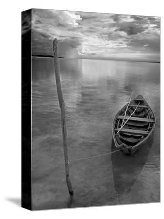 Dug Out Canoe Used by Local Fishermen Pulled Up on Banks of Rio Tarajos, Tributary of Amazon River-Mark Hannaford-Stretched Canvas Print