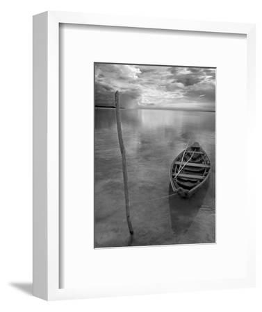Dug Out Canoe Used by Local Fishermen Pulled Up on Banks of Rio Tarajos, Tributary of Amazon River-Mark Hannaford-Framed Photographic Print