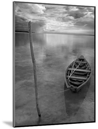 Dug Out Canoe Used by Local Fishermen Pulled Up on Banks of Rio Tarajos, Tributary of Amazon River-Mark Hannaford-Mounted Photographic Print