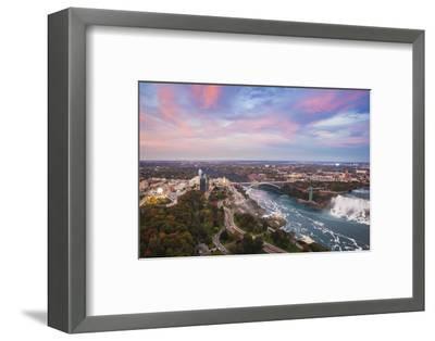 View over Victoria Park Towards Rainbow Bridge and the American Falls, Niagara Falls-Jane Sweeney-Framed Photographic Print