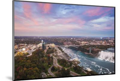 View over Victoria Park Towards Rainbow Bridge and the American Falls, Niagara Falls-Jane Sweeney-Mounted Photographic Print