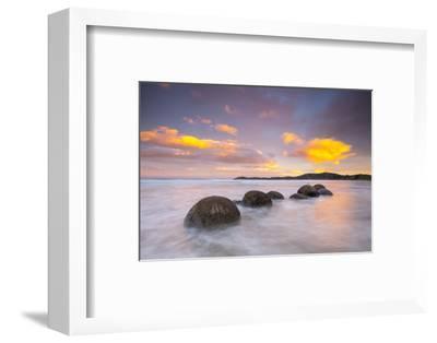 Moeraki Boulders, South Island, New Zealand-Doug Pearson-Framed Photographic Print