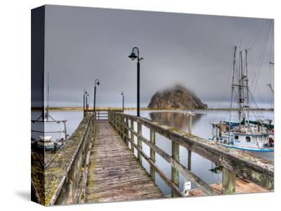 California, Morro Bay, Morro Rock, USA-Alan Copson-Stretched Canvas Print