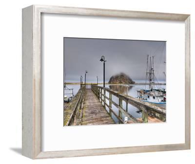 California, Morro Bay, Morro Rock, USA-Alan Copson-Framed Photographic Print