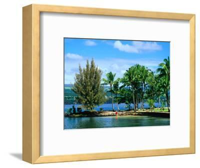 Coconut Island, a Small Island in Hilo Bay, Hawaii, USA-Ann Cecil-Framed Photographic Print