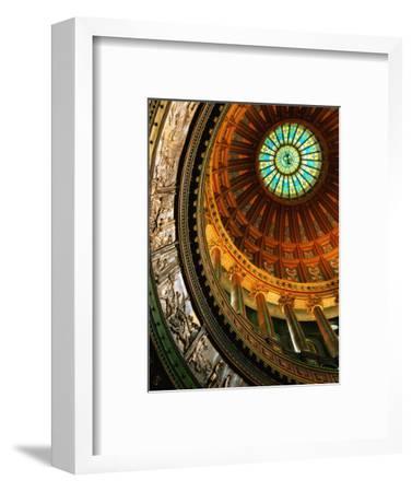 Interior of Rotunda of State Capitol Building, Springfield, United States of America-Richard Cummins-Framed Photographic Print