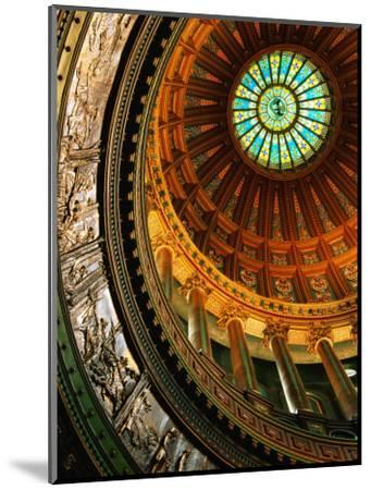 Interior of Rotunda of State Capitol Building, Springfield, United States of America-Richard Cummins-Mounted Photographic Print