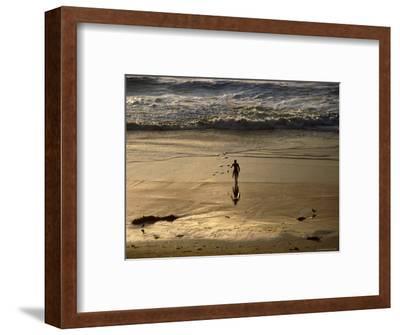 Overhead of Surfer on Redondo Beach-Christina Lease-Framed Photographic Print