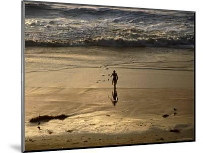Overhead of Surfer on Redondo Beach-Christina Lease-Mounted Photographic Print