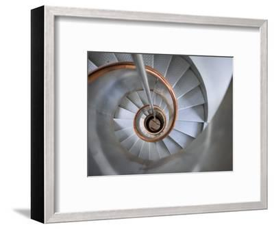 Staircase in Capelinhos Lighthouse-Holger Leue-Framed Photographic Print
