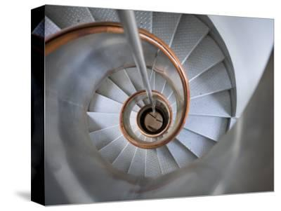 Staircase in Capelinhos Lighthouse-Holger Leue-Stretched Canvas Print