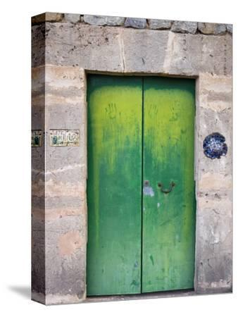 Green Door-Holger Leue-Stretched Canvas Print