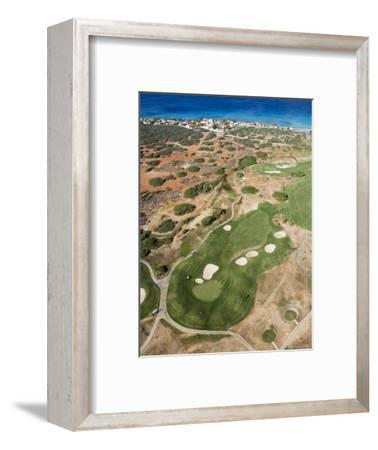 Aerial of Tierra Del Sol Golf Course-Holger Leue-Framed Photographic Print
