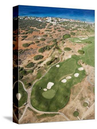 Aerial of Tierra Del Sol Golf Course-Holger Leue-Stretched Canvas Print