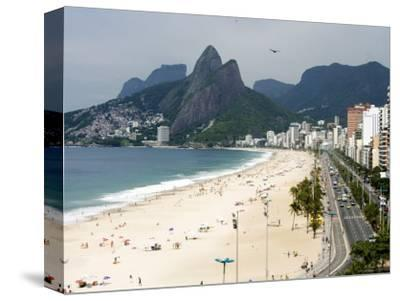 Ipanema Beach from Hotel Fasano Rooftop-Holger Leue-Stretched Canvas Print
