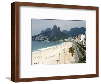 Ipanema Beach from Hotel Fasano Rooftop-Holger Leue-Framed Photographic Print