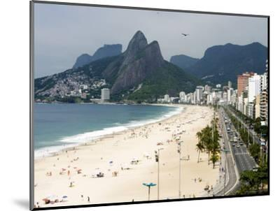 Ipanema Beach from Hotel Fasano Rooftop-Holger Leue-Mounted Photographic Print