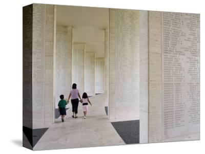 American Memorial Cemetery at Pateros-Greg Elms-Stretched Canvas Print
