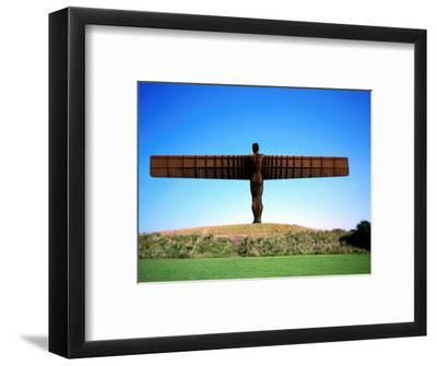 Giant Steel Structure of 'the Angel of the North-David Else-Framed Photographic Print