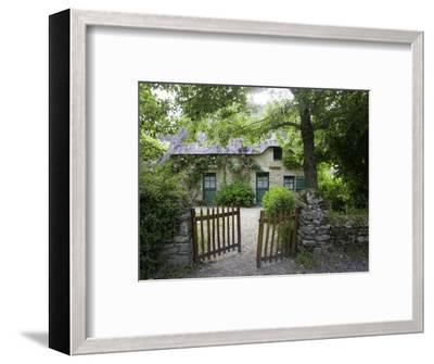 Thatched Cottage with Green Doors in Restored Village of Kerhinet, Briere National Park-Barbara Van Zanten-Framed Photographic Print