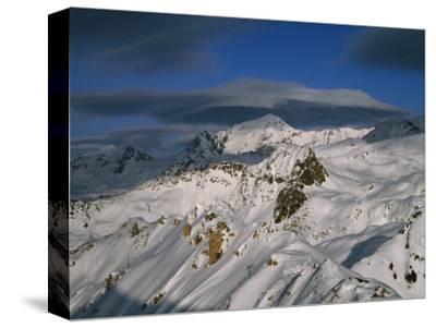 Bellecote Glacier, La Plagne, Savoy, France-Richard Nebesky-Stretched Canvas Print