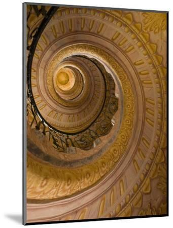Spiral Staircase at Baroque Monastery Church of Sts Peter and Paul-Richard Nebesky-Mounted Photographic Print