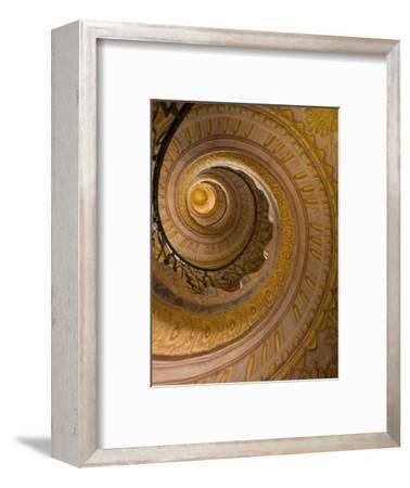 Spiral Staircase at Baroque Monastery Church of Sts Peter and Paul-Richard Nebesky-Framed Photographic Print