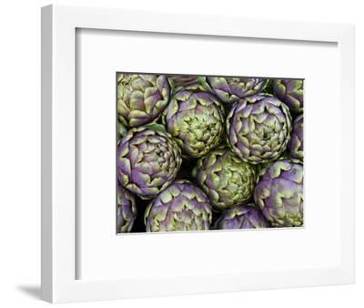 Artichokes for Sale at Market at Campo De' Fiori-Richard l'Anson-Framed Photographic Print