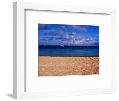 Reduit Beach and Yachts on Rodney Bay-Richard l'Anson-Framed Photographic Print