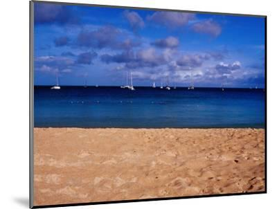 Reduit Beach and Yachts on Rodney Bay-Richard l'Anson-Mounted Photographic Print
