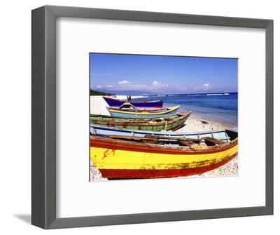 Fishing Boats on Beach-Greg Johnston-Framed Photographic Print
