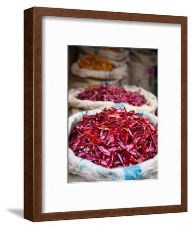 Dried Red Chillies at Spice Market-Huw Jones-Framed Photographic Print