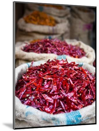 Dried Red Chillies at Spice Market-Huw Jones-Mounted Photographic Print