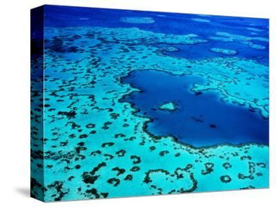 Aerial of Heart-Shaped Reef at Hardy Reef, Near Whitsunday Islands-Holger Leue-Stretched Canvas Print