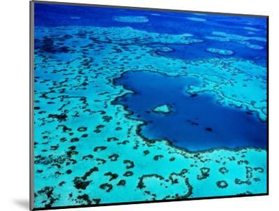 Aerial of Heart-Shaped Reef at Hardy Reef, Near Whitsunday Islands-Holger Leue-Mounted Photographic Print