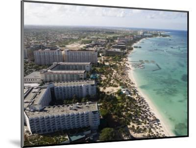 Aerial of Palm Beach and High-Rise Hotels and Resorts-Holger Leue-Mounted Photographic Print