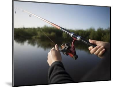 Fishing from Houseboat on Shannon-Erne Waterway-Holger Leue-Mounted Photographic Print