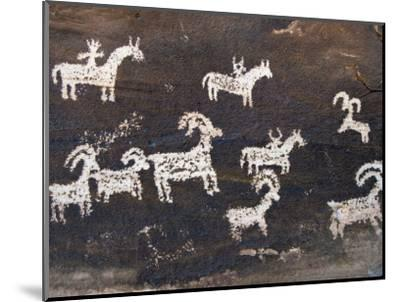 Ute Indian Petroglyphs-John Elk III-Mounted Photographic Print