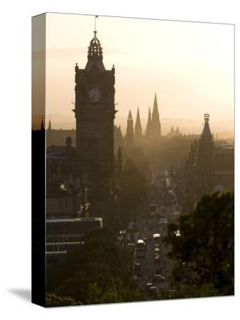 Edinburgh from Calton Hill at Sunset-Karl Blackwell-Stretched Canvas Print