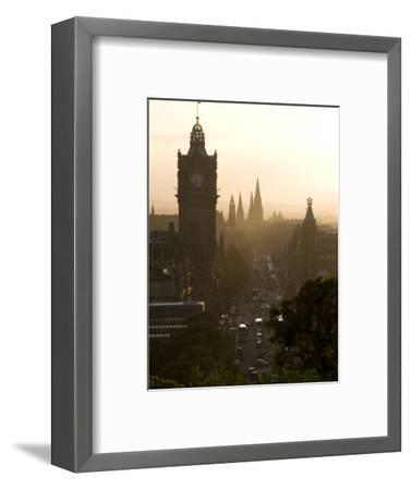 Edinburgh from Calton Hill at Sunset-Karl Blackwell-Framed Photographic Print
