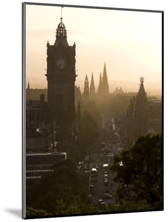 Edinburgh from Calton Hill at Sunset-Karl Blackwell-Mounted Photographic Print