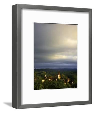 Morning Storm Clouds over Village of Carennac-Barbara Van Zanten-Framed Photographic Print
