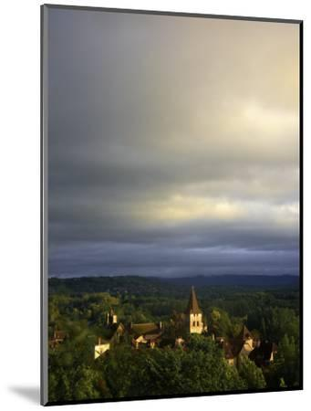 Morning Storm Clouds over Village of Carennac-Barbara Van Zanten-Mounted Photographic Print