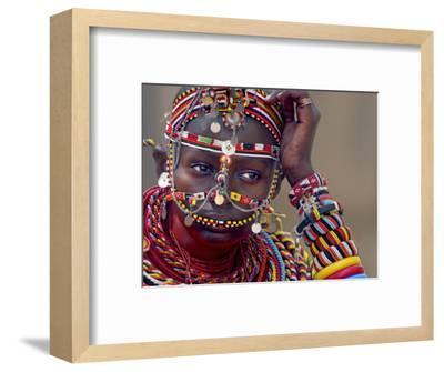 Portrait of a Samburu Maiden--Framed Photographic Print